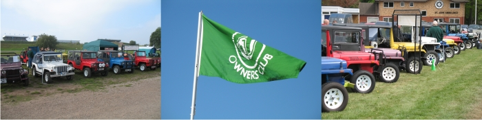 Jago Owners Club stands & flag
